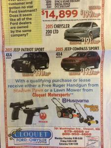 ad for gun give away