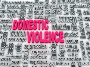 3d Concept diagram wordcloud illustration of domestic violence