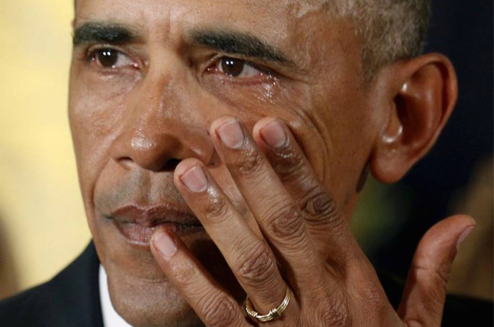 crying President