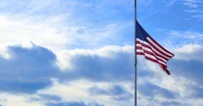 half staff flag