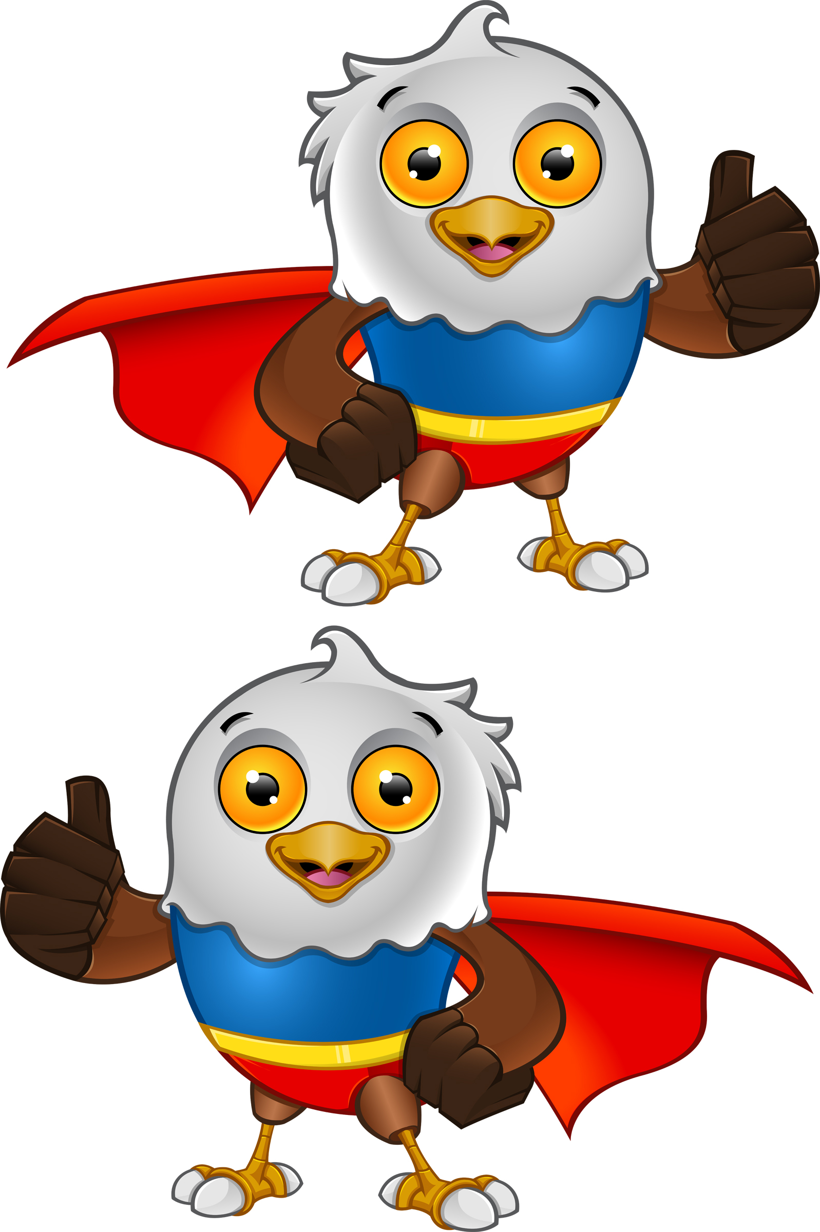 Super Bald Eagle Character - 2