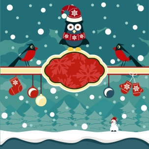 Christmas horizontal banners background