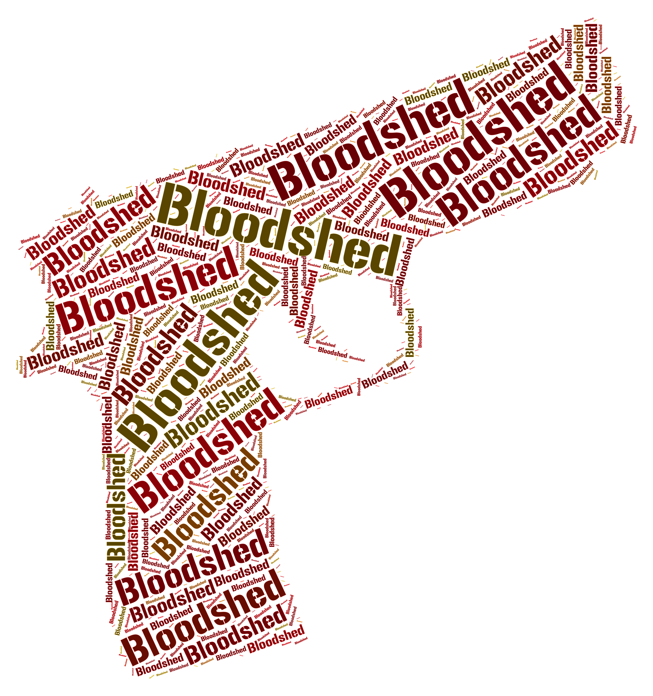 Bloodshed Word Represents Wordclouds Bloodletting And Fighting