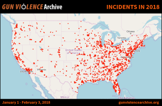 map of gun deaths