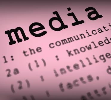 Media Definition Shows Social Media Or Multimedia