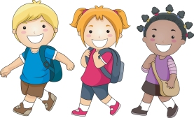backpacks and little kids